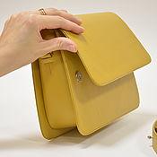 Классическая сумка ручной работы. Ярмарка Мастеров - ручная работа Сумка кросс-боди PETITE Горчица. Handmade.