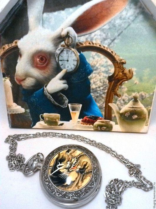 """Часы ручной работы. Ярмарка Мастеров - ручная работа. Купить Часы карманные """"Чёрный дракон"""". Handmade. Часы, подарок"""