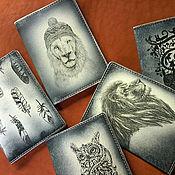 Канцелярские товары ручной работы. Ярмарка Мастеров - ручная работа ВИНТАЖ - паспортные обложки. Handmade.