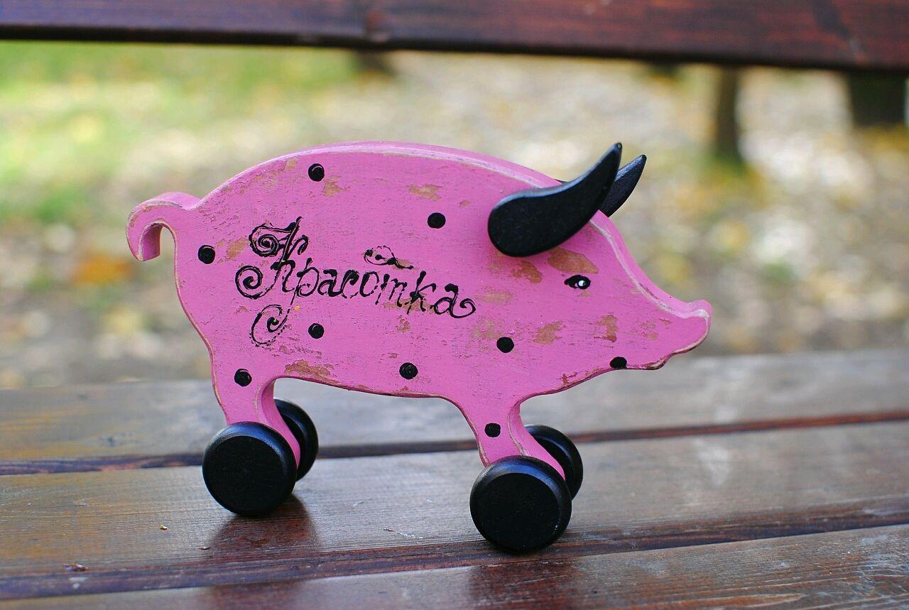 Свинки, Хрюши, Поросюши на колесиках, Мягкие игрушки, Санкт-Петербург,  Фото №1