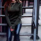 Одежда handmade. Livemaster - original item Black pants leatherette.