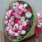 Цветы и флористика ручной работы. Ярмарка Мастеров - ручная работа 55 роз. Handmade.