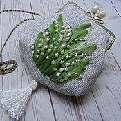 Сумки и аксессуары handmade. Livemaster - original item Lilies of the valley Bag clasp Bag .. Handmade.