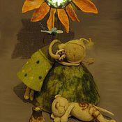 """Для дома и интерьера ручной работы. Ярмарка Мастеров - ручная работа ночник """"Сенокос или Ангел в Доме""""(серия). Handmade."""