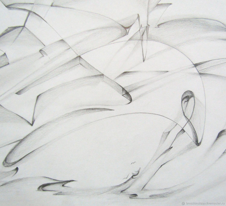 Абстракция ручной работы. Ярмарка Мастеров - ручная работа. Купить Морская история. Handmade. Серый, картина для интерьера