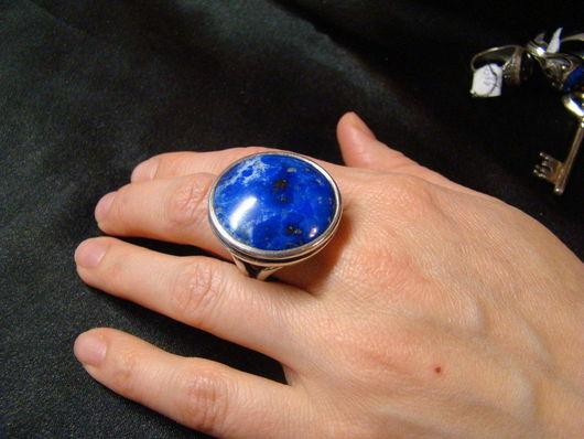 """Кольца ручной работы. Ярмарка Мастеров - ручная работа. Купить Кольцо """"Небо Кандагара"""". Handmade. Тёмно-синий, афганский лазурит"""