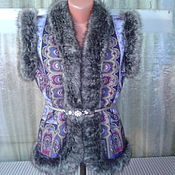Одежда ручной работы. Ярмарка Мастеров - ручная работа ЖИЛЕТКА из павловопосадского платка. Handmade.