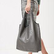 Сумки и аксессуары handmade. Livemaster - original item Grey satchel Bag medium bag shopper shopping Bag t shirt Bag. Handmade.