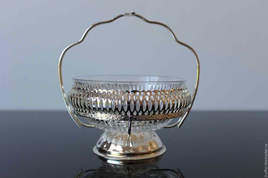 Винтажная посуда. Ярмарка Мастеров - ручная работа. Купить Конфетница, Англия, винтаж, сахарница, вазочка для варенья. Handmade. Металл, креманка