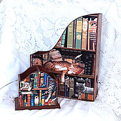 Канцелярские товары handmade. Livemaster - original item Magazine box pencil box Book cats. Handmade.