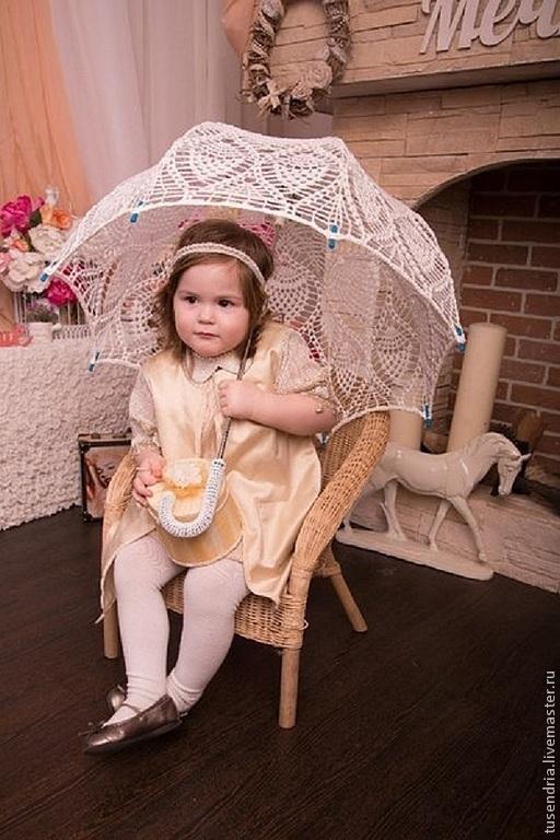 Зонты ручной работы. Ярмарка Мастеров - ручная работа. Купить зонт Снежок 2. Handmade. Белый, зонт крючком