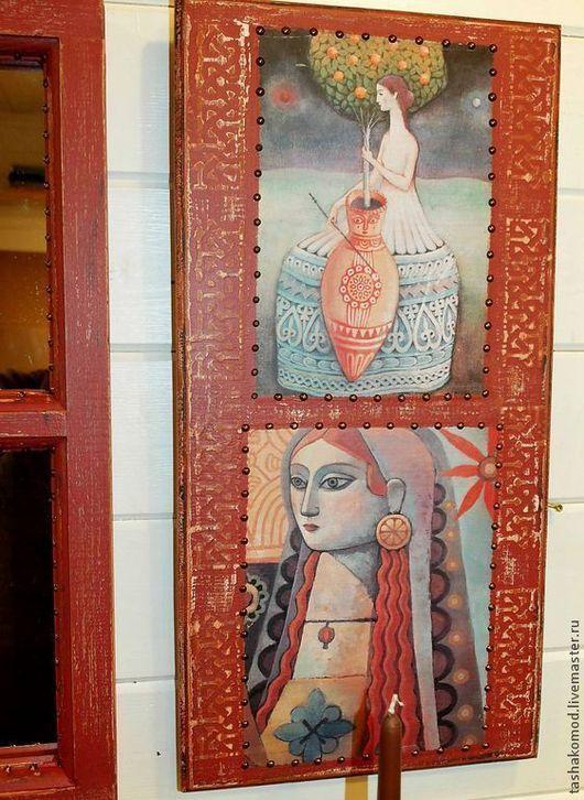 """Зеркала ручной работы. Ярмарка Мастеров - ручная работа. Купить Зеркало и комплект панно """"Андалусия"""". Handmade. Мебель, зеркало, сосна"""