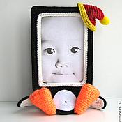 """Куклы и игрушки ручной работы. Ярмарка Мастеров - ручная работа Фото рамка """"Пингвинчик"""". Handmade."""