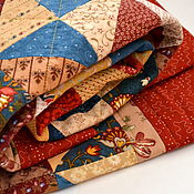 Русский стиль ручной работы. Ярмарка Мастеров - ручная работа Детское лоскутное одеяло. Handmade.
