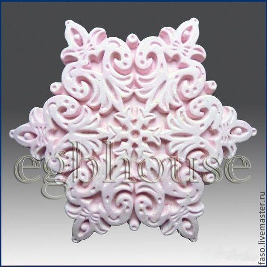 Другие виды рукоделия ручной работы. Ярмарка Мастеров - ручная работа. Купить Силиконовая форма Снежинка-8. Handmade. Розовый