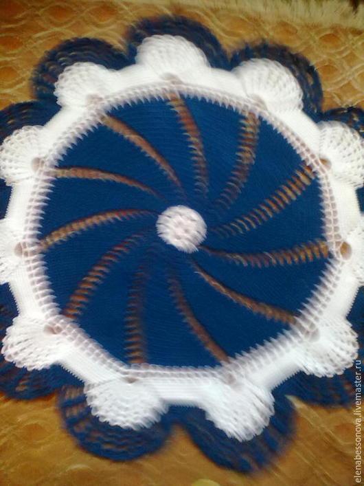 Текстиль, ковры ручной работы. Ярмарка Мастеров - ручная работа. Купить Коврик-накидка. Handmade. Тёмно-синий, коврик