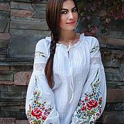 "Одежда handmade. Livemaster - original item Вышитая блуза ""Цветочная новелла-2"" блуза с вышивкой, вышиванка. Handmade."