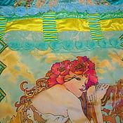 """Для дома и интерьера ручной работы. Ярмарка Мастеров - ручная работа Покрывало """"Девушка - весна"""". Handmade."""