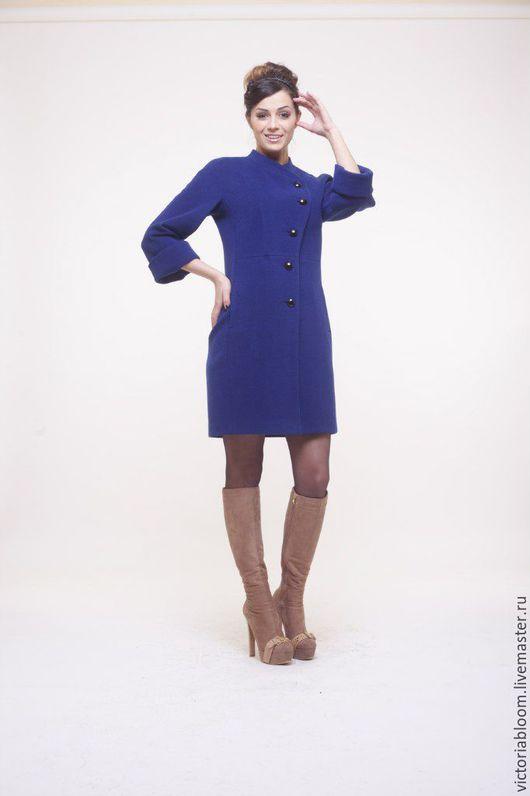 Верхняя одежда ручной работы. Ярмарка Мастеров - ручная работа. Купить Элегантное пальто на пуговицах. Handmade. Бордовый, коралловый