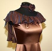 Одежда ручной работы. Ярмарка Мастеров - ручная работа Вечернее атласное платье. Handmade.