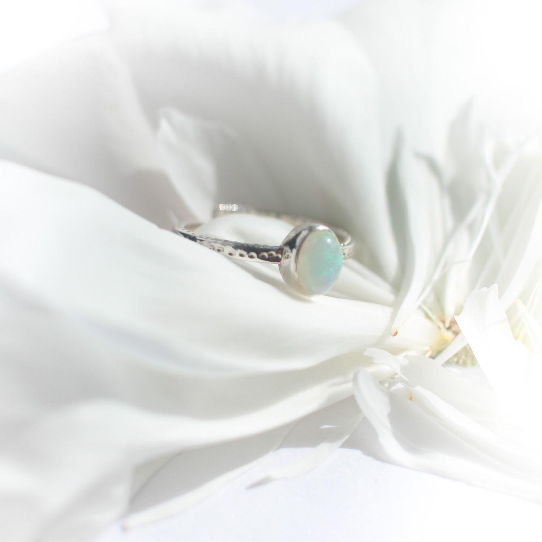 Кольцо из серебра с натуральным опалом, Кольца, Москва,  Фото №1