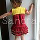 Одежда для девочек, ручной работы. Платье с оборками для девочки. Мария (Sandra). Ярмарка Мастеров. Оборки