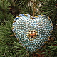 Подарки для влюбленных ручной работы. Ярмарка Мастеров - ручная работа. Купить Ледяное сердце. Handmade. Бирюзовый, елочные украшения