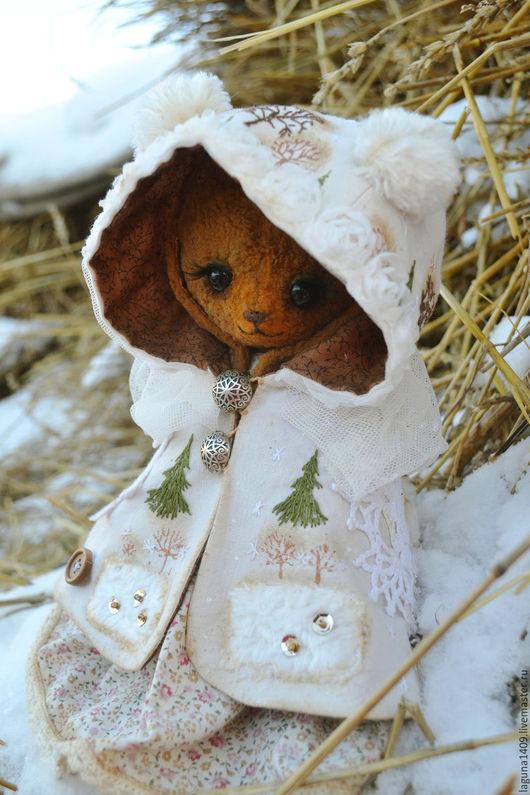 """Мишки Тедди ручной работы. Ярмарка Мастеров - ручная работа. Купить Плюшевая зайка """"Где зимует лето"""". Handmade. Белый"""