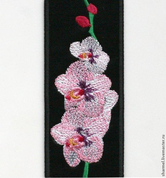 """Вышитая закладка """"Орхидеи"""".\r\nПолезные вещицы от Шармель-ки."""