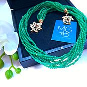 Украшения handmade. Livemaster - original item Necklace with chrysoprase