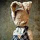 Мишки Тедди ручной работы. Ярмарка Мастеров - ручная работа. Купить JUNE SWEETY. Handmade. Бежевый, Единичный экземпляр, зайка