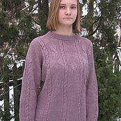 Одежда ручной работы. Ярмарка Мастеров - ручная работа Джемпер  вязаный женский  (пуловер) Сирень. Handmade.