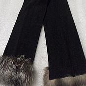 Винтаж handmade. Livemaster - original item Stylish scarf,Virginia wool with fringes,vintage Germany. Handmade.