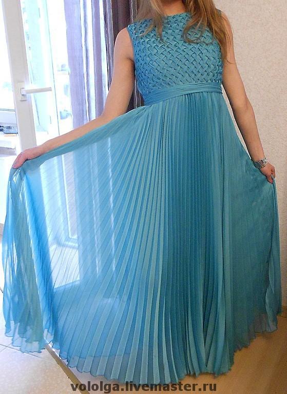 Платье из ткани плиссе сшить 34