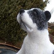 Войлочная игрушка ручной работы. Ярмарка Мастеров - ручная работа Войлочная игрушка: Валянная  игрушка  собака АЛАБАЙ. Handmade.