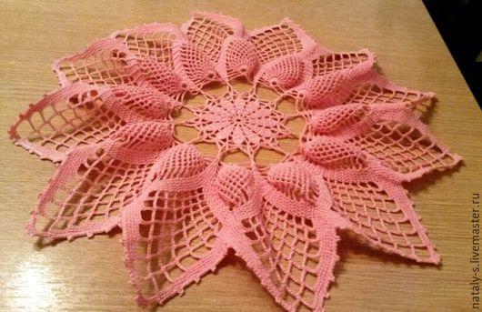 Текстиль, ковры ручной работы. Ярмарка Мастеров - ручная работа. Купить Салфетка вязаная крючком. Handmade. Салфетка вязаная