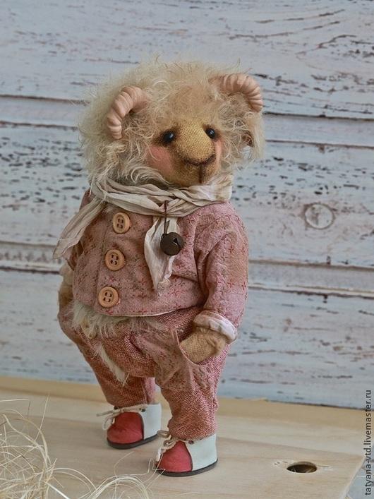 Мишки Тедди ручной работы. Ярмарка Мастеров - ручная работа. Купить Барашек Макарий. Handmade. Бледно-розовый, авторская работа