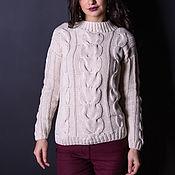 Одежда handmade. Livemaster - original item A cashmere sweater with a voluminous braids Tangled. Handmade.