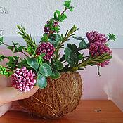 Цветы и флористика ручной работы. Ярмарка Мастеров - ручная работа Букет из полимерной глины тимьяна, розмарина и клевера. Handmade.