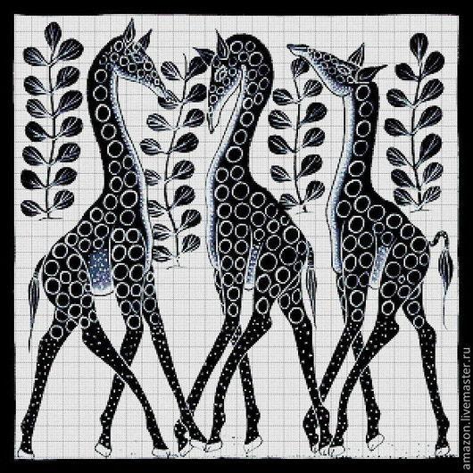 """Вышивка ручной работы. Ярмарка Мастеров - ручная работа. Купить Набор вышивания бисером  """" Африканские мотивы """". Handmade."""