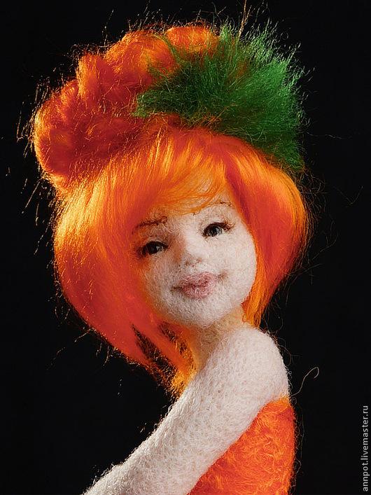 Коллекционные куклы ручной работы. Ярмарка Мастеров - ручная работа. Купить Авторская войлочная кукла Бархатцы. Handmade. Оранжевый, бархатцы
