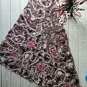 Аксессуары handmade. Livemaster - original item Neck scarf chocolate warm large Winter berries. Handmade.