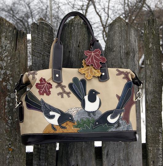 Новая сумка с осенними сороками.