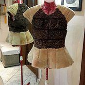 Одежда ручной работы. Ярмарка Мастеров - ручная работа Жилетка из бобра. Handmade.