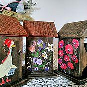 """Домики ручной работы. Ярмарка Мастеров - ручная работа Чайные домики """" Чайная коллекция """". Handmade."""