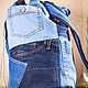 """Рюкзаки ручной работы. Рюкзак джинсовый """"Карманы"""". Брюкзачки. Интернет-магазин Ярмарка Мастеров. Рюкзак джинсовый, рюкзак мужской, хлопок"""