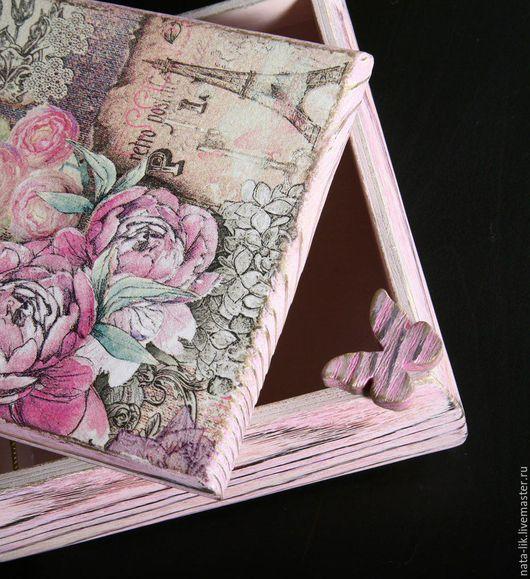 """Шкатулки ручной работы. Ярмарка Мастеров - ручная работа. Купить Шкатулка """"Розы в Париже"""". Handmade. Розовый, подарок девушке, воски"""