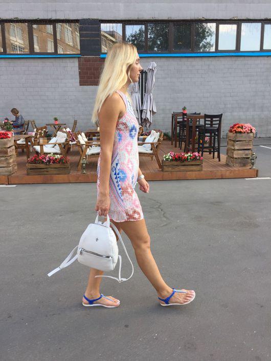 Рюкзаки ручной работы. Ярмарка Мастеров - ручная работа. Купить Кожаный рюкзак Rainbow. Handmade. Комбинированный, рюкзак женский