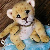 """Куклы и игрушки ручной работы. Ярмарка Мастеров - ручная работа Валяный львёнок """"Принц"""". Handmade."""