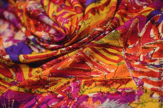 Шитье ручной работы. Ярмарка Мастеров - ручная работа. Купить Плательная ткань 04-003-2750. Handmade. Комбинированный, эластан